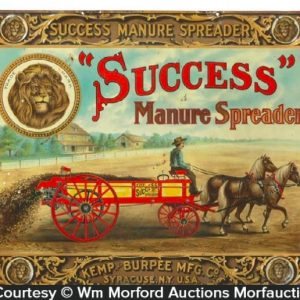 Success Manure Spreaders Sign