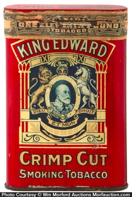 King Edward Crimp Cut Tobacco Tin