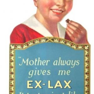 Ex-Lax Store Display Sign
