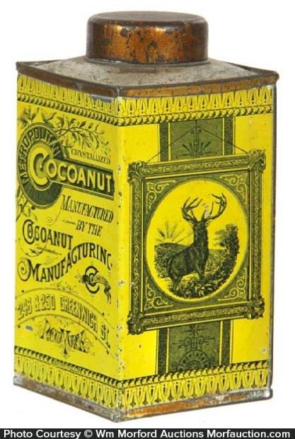 Metropolitan Cocoanut Tin