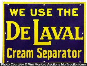 Delaval Cream Separators Porcelain Sign
