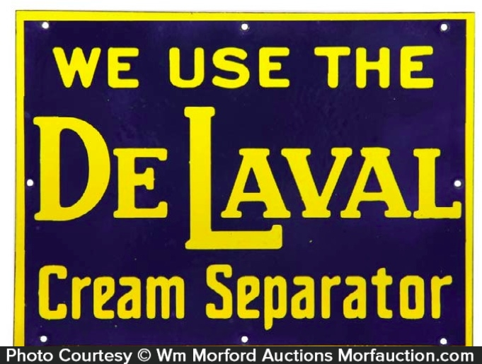 Delaval Cream Separators Porcelain Sign