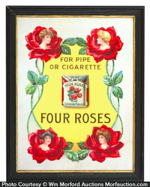 Four Roses Tobacco Sign