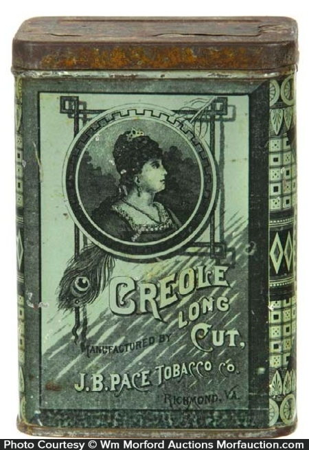 Creole Long Cut Tobacco Tin