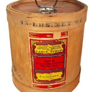 Towle's Log Cabin Syrup Barrel