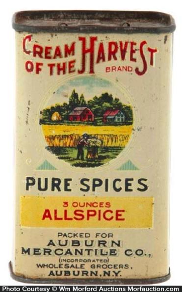 Cream Of The Harvest Spice Tin