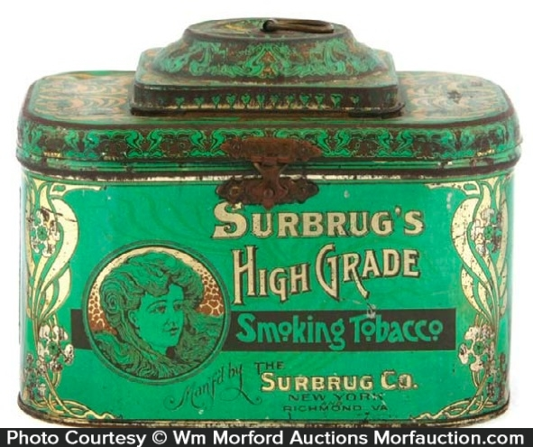 Surbruges Tobacco Tin