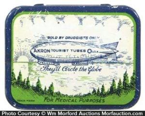 Akron Tourist Tubes Condom Tin