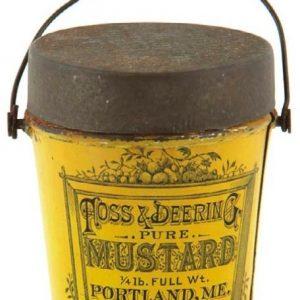 Miniature Foss & Deering Mustard Pail