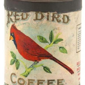 Red Bird Coffee Can