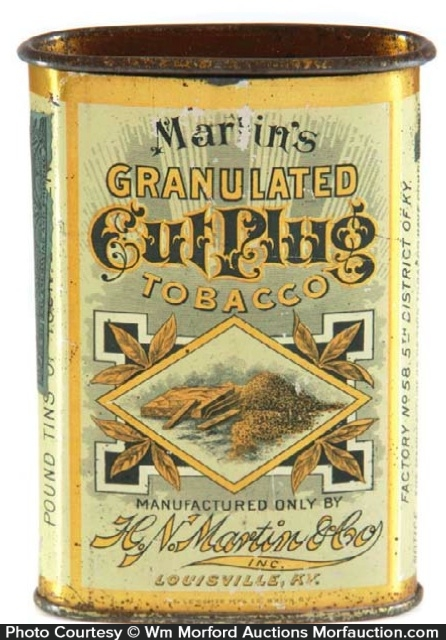 Martine's Cut Plug Tobacco Tin
