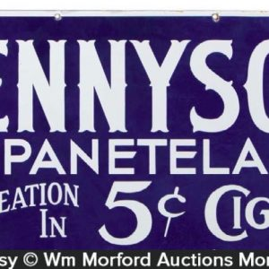 Tennyson Panatela Cigar Sign