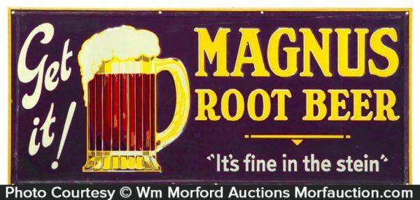 Magnus Root Beer Sign