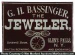 Bassinger Jeweler Sign