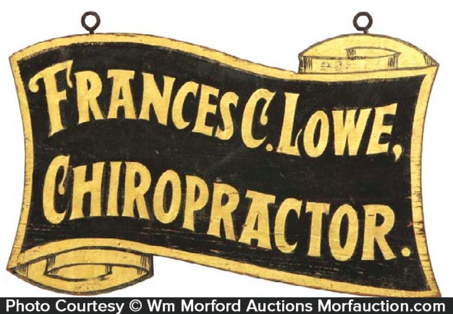 Chiropractor Trade Sign