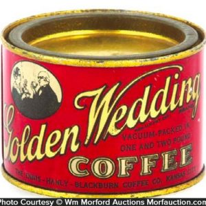 Golden Wedding Coffee Tin Sample