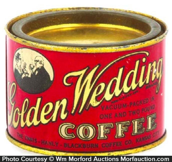 Golden Wedding Coffee Tin Sample