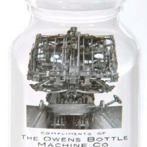Owens Bottle Shaped Paperweight