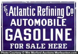Atlantic Refining Gasoline Sign