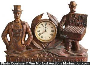 Boston Peg Top Cigars Clock