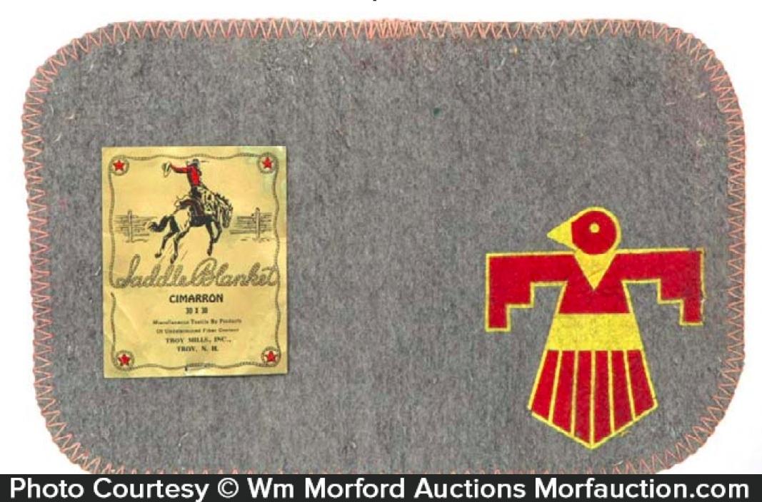 Salesman's Sample Saddle Blanket