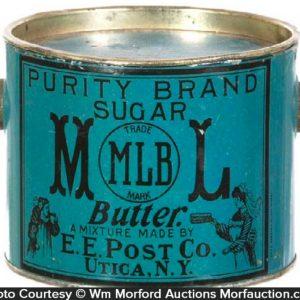 Major League Baseball Purity Sugar Butter Pail