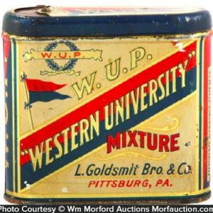 Western University Tobacco Tin