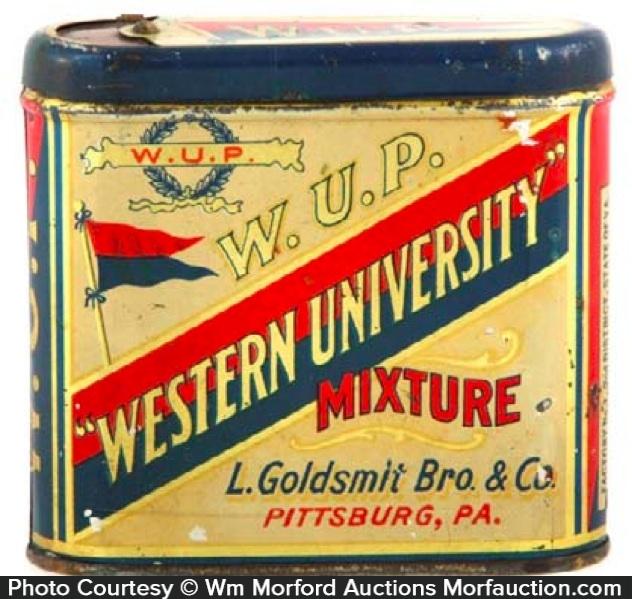 Western University Tobacco Tin