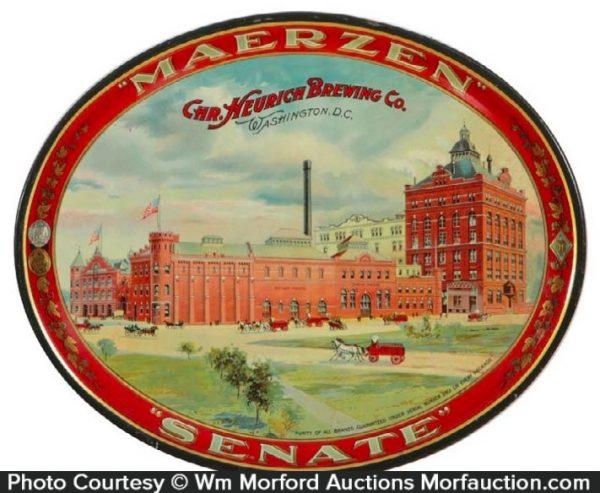 Heurich Brewing Co. Senate Beer Tray