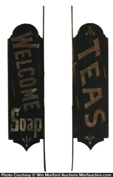 Welcome Soap Wooden Sign