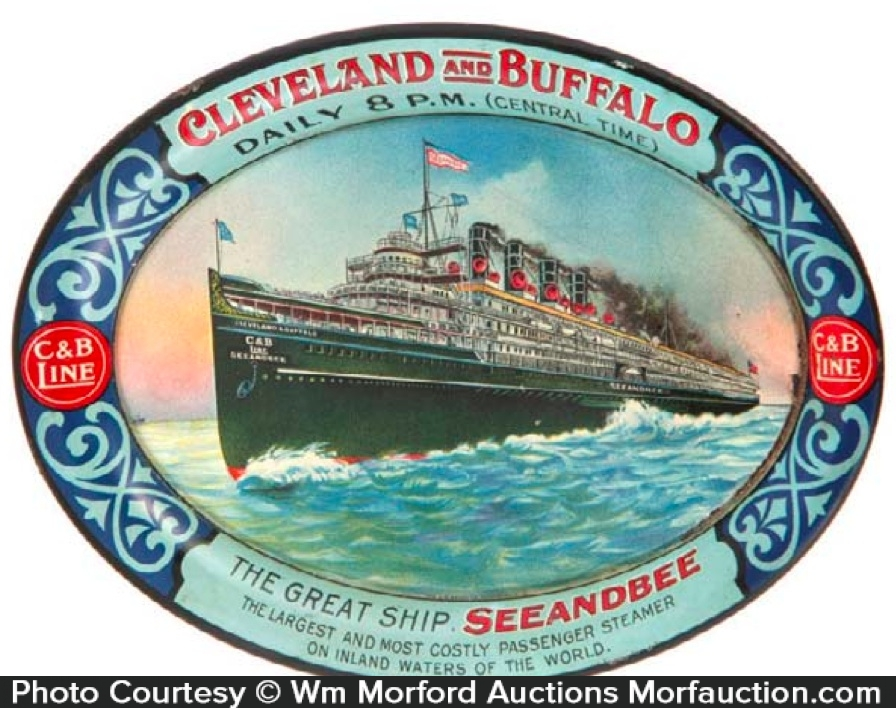 C & B Cleveland and Buffalo Lines Tip Tray
