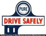 Pure Oil Co. Bumper Tag