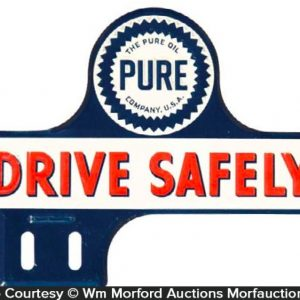 Pure Oil Co. Bumper Tag