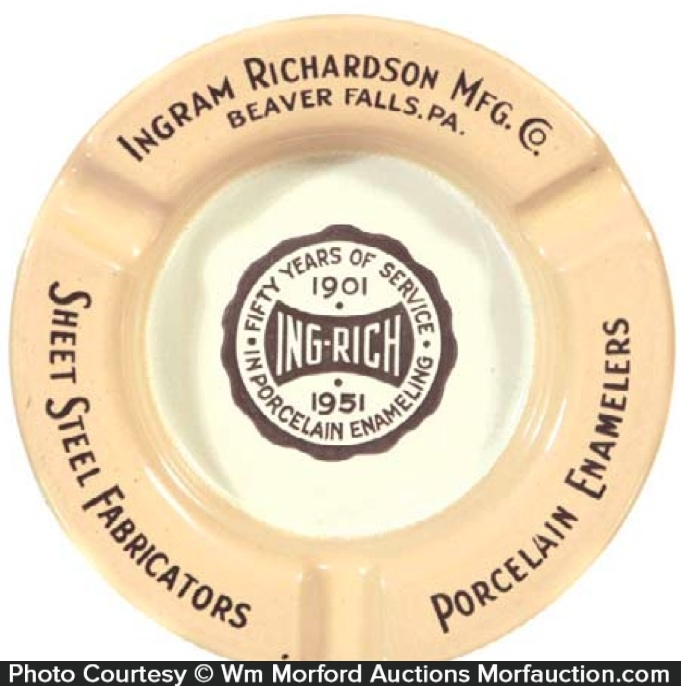 Ingram Richardson Porcelain Ashtray