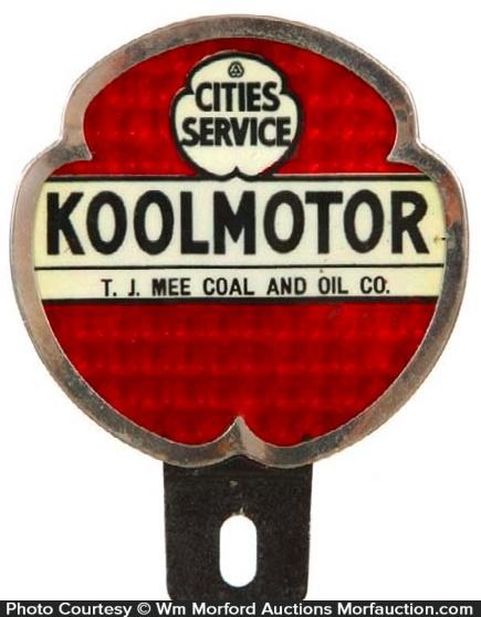 Cities Service Koolmotor Bumper Tag