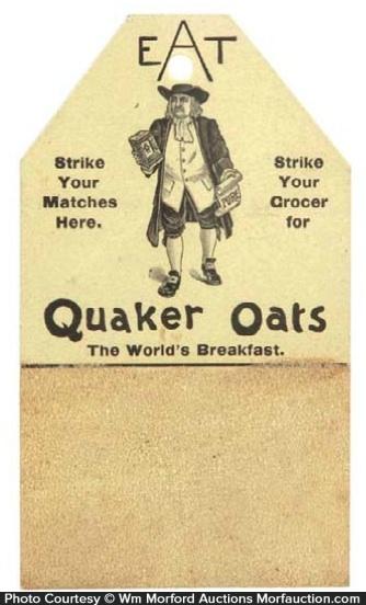 Quaker Oats Match Scratcher