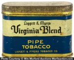 Virginia Blend Pipe Tobacco Tin