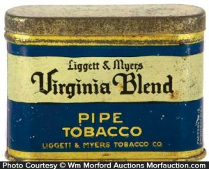 Virginia Blend Pipe Tobacco Tin