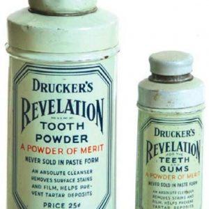 Drucker's Tooth Powder Tins