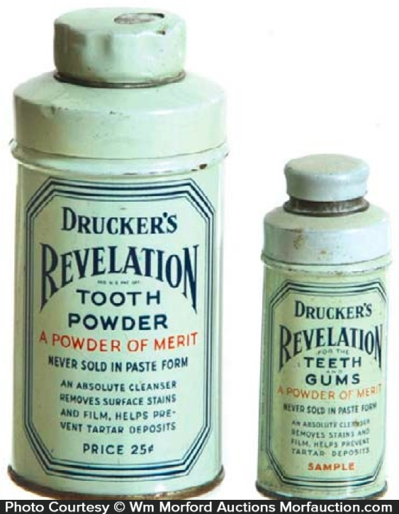 Drucker's Tooth Powder Tins