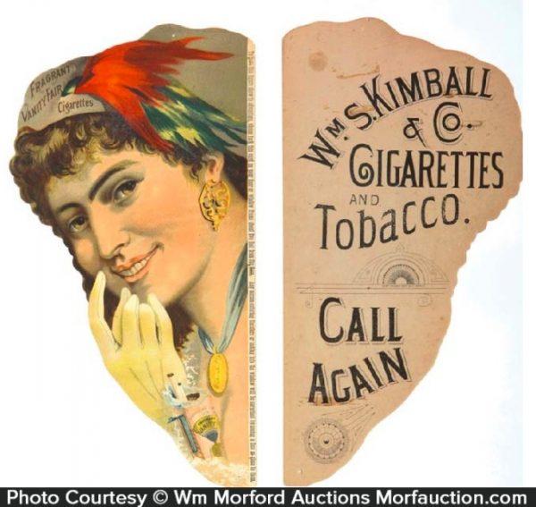 Vanity Fair Cigarette Signs