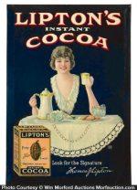 Lipton's Cocoa Sign