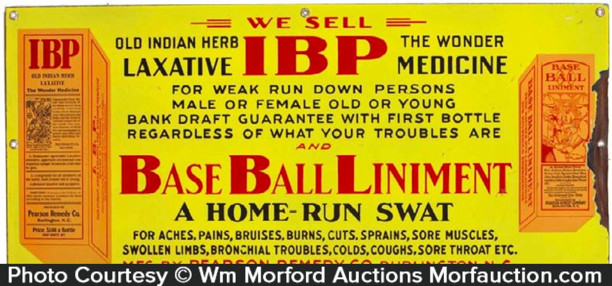Ibp Baseball Liniment Sign