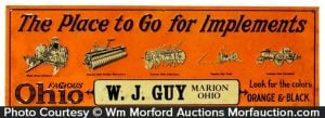 Guy's Marion Ohio Agricultural Sign