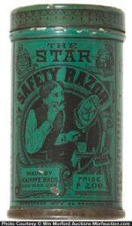 Star Safety Razor Tin