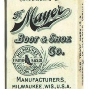Mayer Boot & Shoe Match Safe