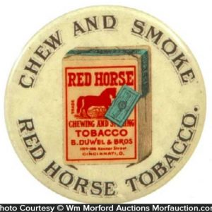 Red Horse Tobacco Mirror