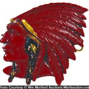 Red Indian Oil Badge