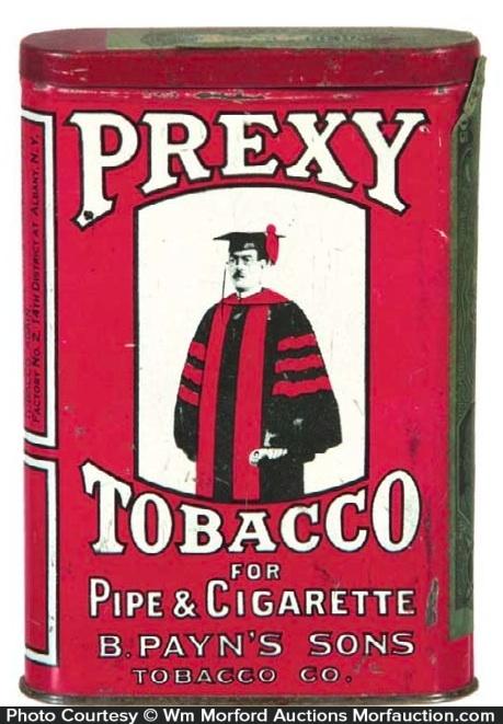 Prexy Tobacco Tin