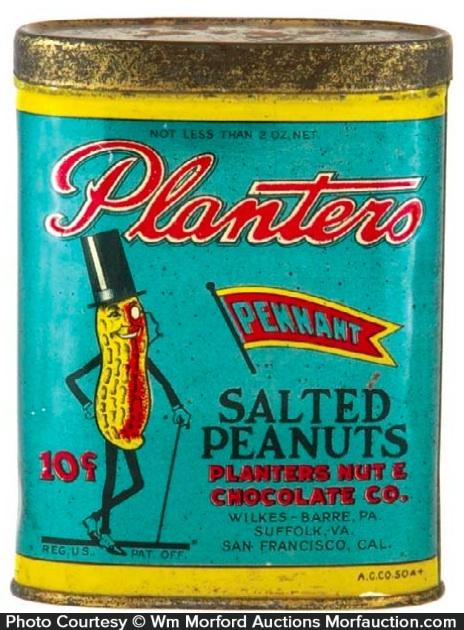 Planters Peanuts Pocket Tin